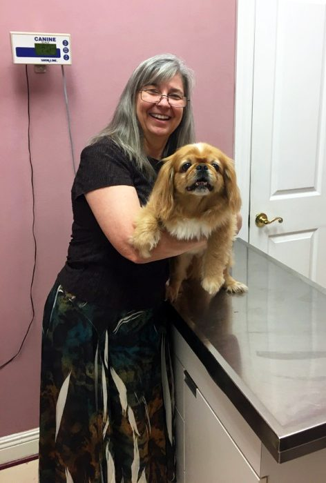 our client and her dog